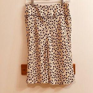 Studio M Sz Small cream and black silk skirt
